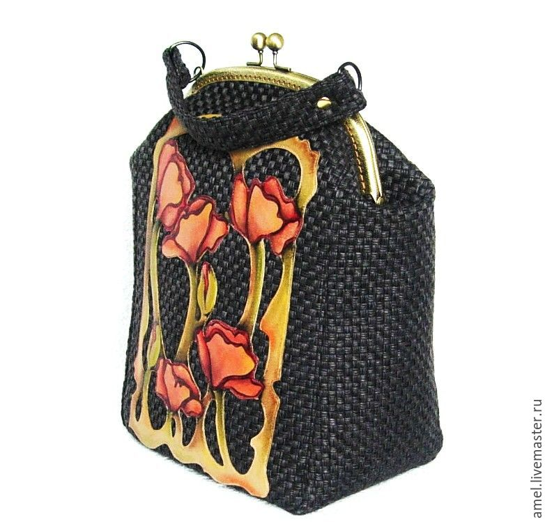 Women's bag with clasp 'Poppies' Games with Art Nouveau, Clasp Bag, Izhevsk,  Фото №1