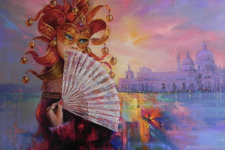Авторская картина маслом «Венецианский карнавал» 65/90см, Картины, Ростов-на-Дону,  Фото №1