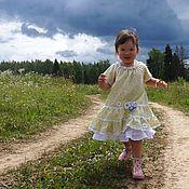 Работы для детей, ручной работы. Ярмарка Мастеров - ручная работа Платье в цветочек. Handmade.