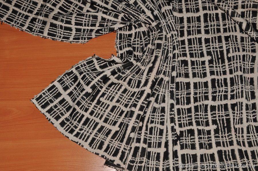 Трикотажная ткань клетка из Италии, Ткани, Москва,  Фото №1