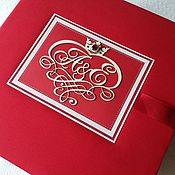 Свадебный салон ручной работы. Ярмарка Мастеров - ручная работа Свадебный альбом в красных тонах. Handmade.
