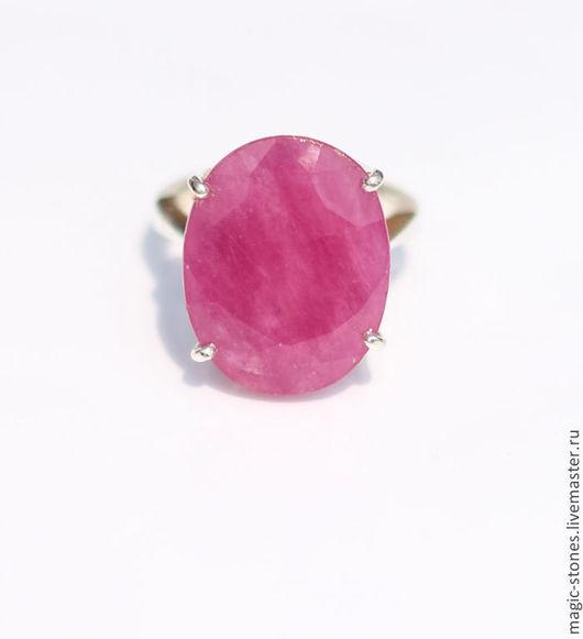 Кольца ручной работы. Ярмарка Мастеров - ручная работа. Купить Cеребряное  кольцо с натуральным  рубином. Handmade. Натуральные камни, рубин