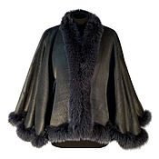 Одежда handmade. Livemaster - original item The jacket the drape of Alpaca wool with fur of Fox. Handmade.