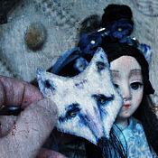 Куклы и игрушки ручной работы. Ярмарка Мастеров - ручная работа Кицунэ... Девушка-лисичка). Handmade.