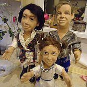 Куклы и игрушки ручной работы. Ярмарка Мастеров - ручная работа Портретные куклы на заказ по фото  - Семья. Handmade.