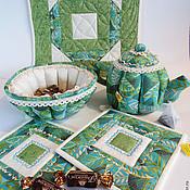 """Для дома и интерьера ручной работы. Ярмарка Мастеров - ручная работа Чайный комплект """"А у нас в саду цветочки"""" 3. Handmade."""