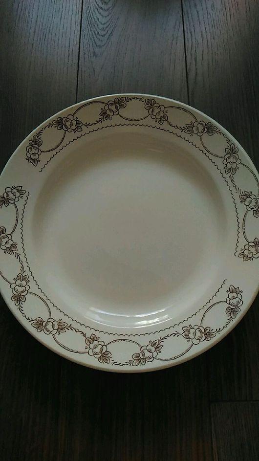 Винтажная посуда. Ярмарка Мастеров - ручная работа. Купить Тарелки ЗИК 2 вида. Handmade. Тарелка, ретро, фаянс