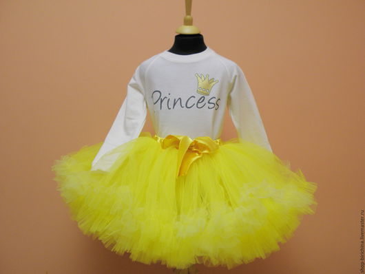 Одежда для девочек, ручной работы. Ярмарка Мастеров - ручная работа. Купить Солнечная желтая пышная юбочка американка. Handmade. Комбинированный