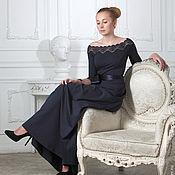 Одежда ручной работы. Ярмарка Мастеров - ручная работа 051:Платье вечернее в пол,длинное платье открытые плечи. Handmade.