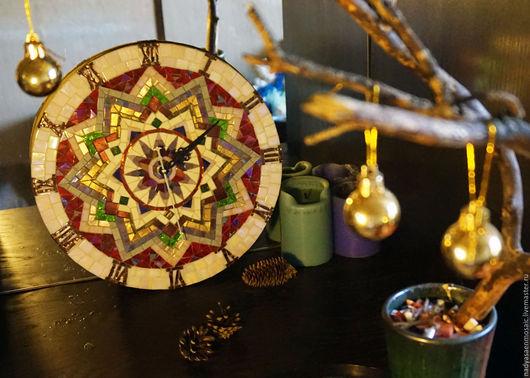 Часы для дома ручной работы. Ярмарка Мастеров - ручная работа. Купить Мозаичные часы. Handmade. Комбинированный, стекло, стеклянная мозаика