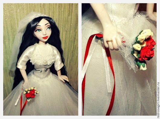 Коллекционные куклы ручной работы. Ярмарка Мастеров - ручная работа. Купить Невеста. Handmade. Белый, свадьба, кукла ручной работы