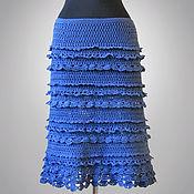 Одежда ручной работы. Ярмарка Мастеров - ручная работа Юбка Dorothy синяя. Handmade.
