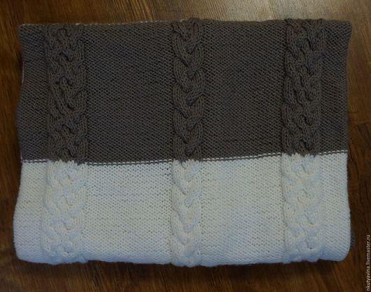 """Текстиль, ковры ручной работы. Ярмарка Мастеров - ручная работа. Купить Плед вязаный """"Контраст"""". Handmade. Плед, подарок"""