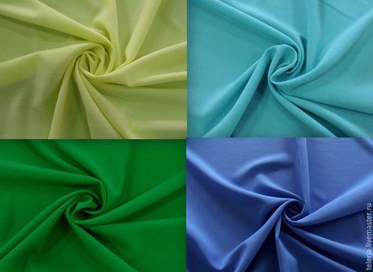 """Шитье ручной работы. Ярмарка Мастеров - ручная работа. Купить Тонкий плательный креп """"Летний день"""" 6 цветов Ш067. Handmade."""