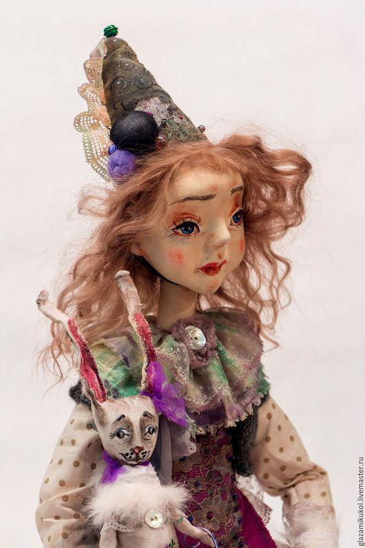 Коллекционные куклы ручной работы. Ярмарка Мастеров - ручная работа. Купить ПЛАКАЛИ ИГРУШКИ  58см(КЛАРИСА). Handmade. Сиреневый, велюр хлопковый