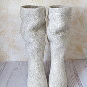 Обувь ручной работы. Ярмарка Мастеров - ручная работа Войлочные сапожки Теплая зима. Handmade.