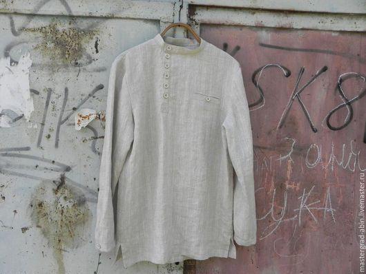 Рубашка - косоворотка для мужчины из белорусского льна