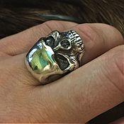 """Кольца ручной работы. Ярмарка Мастеров - ручная работа кольцо """" череп """" №1. Handmade."""