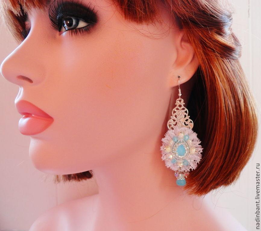 Earrings Blue Bird, Earrings, St. Petersburg,  Фото №1