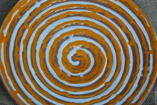 Декоративная посуда ручной работы. Ярмарка Мастеров - ручная работа. Купить Блюдо керамика Оранжевое настроение, декоративное, большое. Handmade.