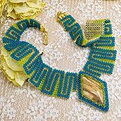 Украшения handmade. Livemaster - original item beaded necklace Blue Rhapsody beaded decoration. Handmade.