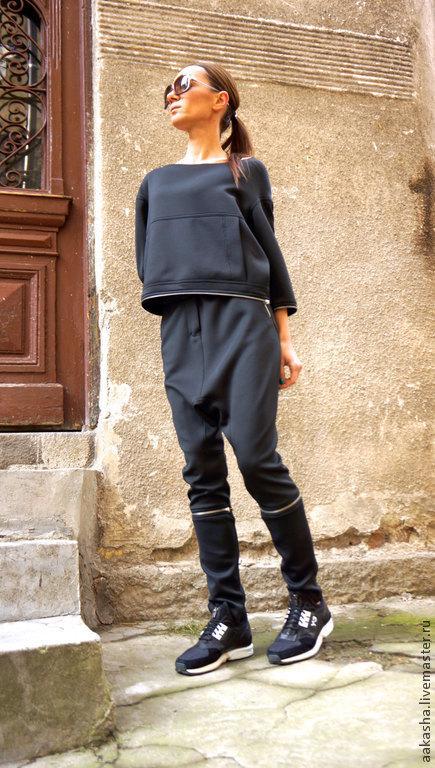 брюки спортивные брюки спортивные стиль капри черные брюки трансформер