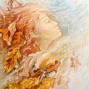 Картины и панно ручной работы. Ярмарка Мастеров - ручная работа Картина маслом осень