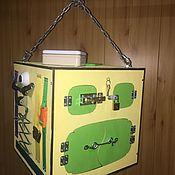 """Бизиборды ручной работы. Ярмарка Мастеров - ручная работа Бизикуб """"Желтый"""" Бизиборд Дом Продан! сделаем на заказ. Handmade."""