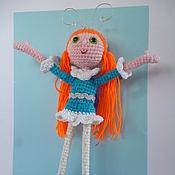 Куклы и игрушки ручной работы. Ярмарка Мастеров - ручная работа Девочка-Бабочка. вязаные куклы. Handmade.