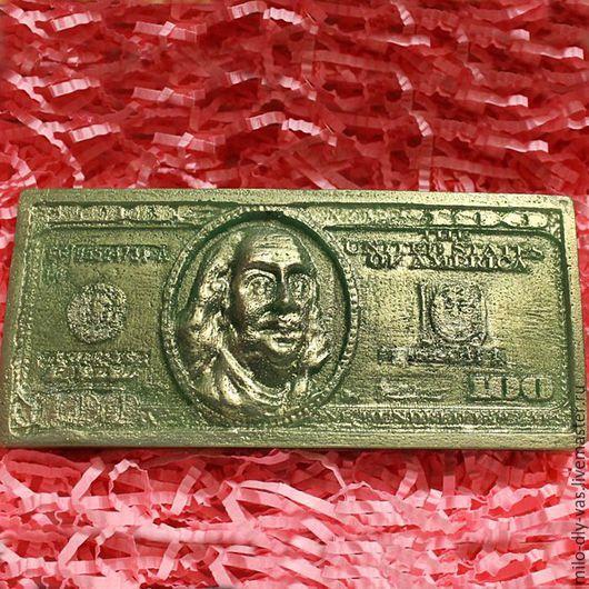 Мыло Банкнота 100 долларов, сувенирное мыло ручной работы.