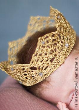 Подарки для новорожденных, ручной работы. Ярмарка Мастеров - ручная работа. Купить Корона. Handmade. Золотой, корона для фотоссей, корона для принцессы