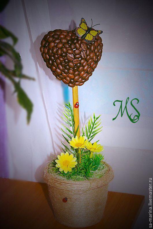 """Топиарии ручной работы. Ярмарка Мастеров - ручная работа. Купить Топиарий """"Летний день"""". Handmade. Коричневый, топиарий дерево счастья"""