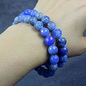 Украшения handmade. Livemaster - original item bracelet made of natural agate blue agate. Handmade.