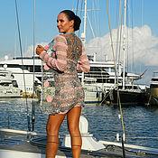 Одежда ручной работы. Ярмарка Мастеров - ручная работа Кардиган вязаный розовый на сером. Handmade.