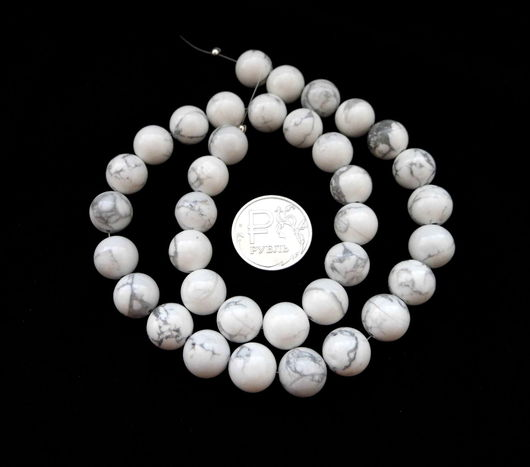 Для украшений ручной работы. Ярмарка Мастеров - ручная работа. Купить Кахолонг 36 камней набор белый бусины гладкий шар 10 мм. Handmade.