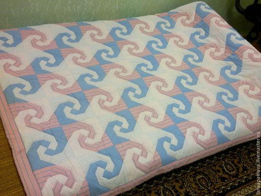 """Текстиль, ковры ручной работы. Ярмарка Мастеров - ручная работа. Купить Покрывало в стиле пэчворк """"Вихри"""". Handmade. Печворк"""