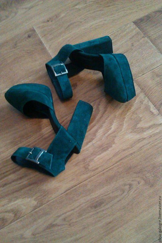 Обувь ручной работы. Ярмарка Мастеров - ручная работа. Купить Босоножки. Handmade. Тёмно-зелёный, босоножки летние, летняя обувь