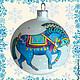 """Новый год 2017 ручной работы. Ярмарка Мастеров - ручная работа. Купить Символ 2014 года """"Синий конь"""". Handmade. Лошадь"""