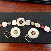 Украшения ручной работы. Ярмарка Мастеров - ручная работа Браслет, сережки. Handmade.