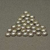 Фурнитура ручной работы. Ярмарка Мастеров - ручная работа Шапочки разные металлические под серебро. Handmade.