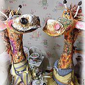 Куклы и игрушки ручной работы. Ярмарка Мастеров - ручная работа Аркадий и Жирафина. Handmade.
