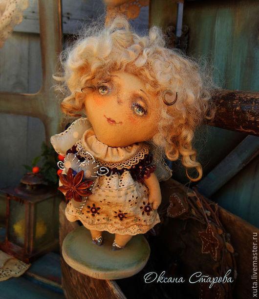 Ароматизированные куклы ручной работы. Ярмарка Мастеров - ручная работа. Купить В доме пахнет Рождеством.... Handmade. Бордовый