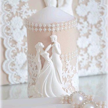 """Свадебный салон ручной работы. Ярмарка Мастеров - ручная работа Свадебные свечи """"Он и она"""". Handmade."""