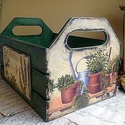 Для дома и интерьера ручной работы. Ярмарка Мастеров - ручная работа Пряные травы. Ящик для хранения. Handmade.