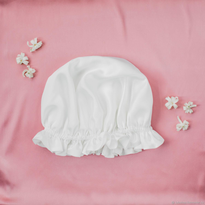 Natural silk sleep cap, Mutch, Moscow,  Фото №1