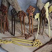 "Украшения handmade. Livemaster - original item Copy of Wooden hairpin ""Clover leaf"". Handmade."