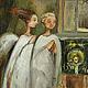 Фантазийные сюжеты ручной работы. Ярмарка Мастеров - ручная работа. Купить Два ангела хранителя.Картина маслом. Handmade.