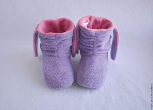 """Обувь ручной работы. Ярмарка Мастеров - ручная работа. Купить Тапочки-зайчики """"Утренняя нега"""". Handmade. Сиреневый, домашние тапочки"""