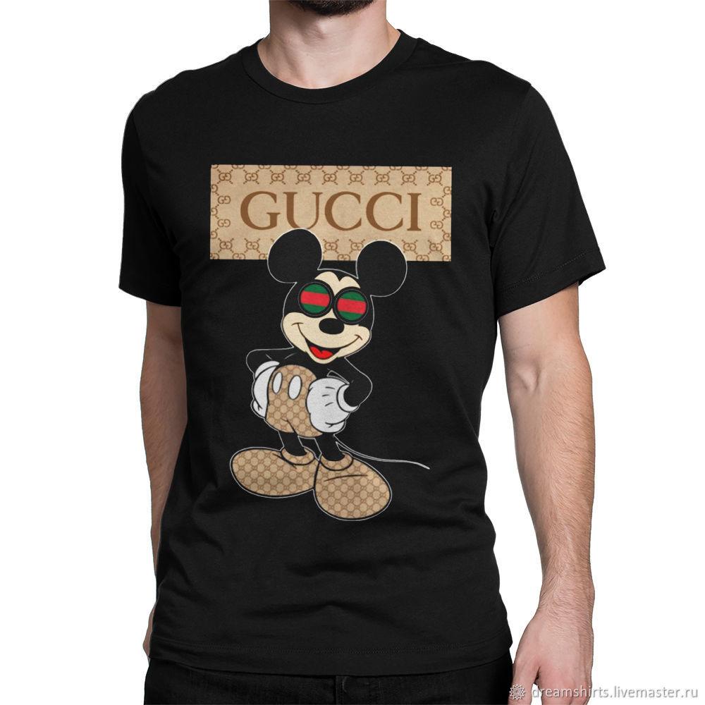 "Футболка хлопковая ""Микки Маус - Gucci"", T-shirts, Moscow,  Фото №1"