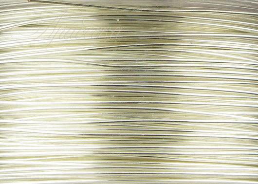 Проволока серебряная Silver Filled мягкая 0.41мм Beadsmith (США) 0.5м
